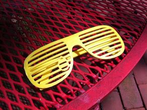 Teardrop Shutter Shades For Print