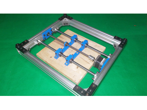023-Homemade Router Mill CNC Laser Plotter 3D Printer Machine DIY Y Axis Slide Linear Bed Base Frame