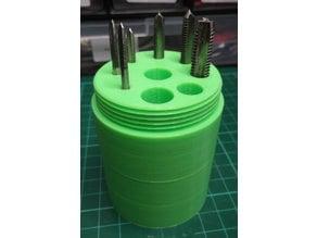 Threaded tap holder