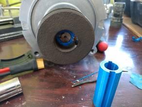 "1"" pulley to 5/8"" motor shaft dual keyway adapter"