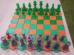 Modular boards for Chess and Checkers