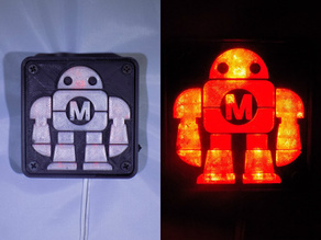 Maker Faire LED Robot sign/nightlight