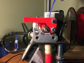 Printrbot Simple Metal Flexible Filament Extruder Arm (no supports needed)