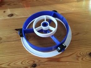 Flat filament spool roller