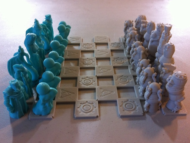 Robots Versus Wizards Chess Set By Dutchmogul Thingiverse