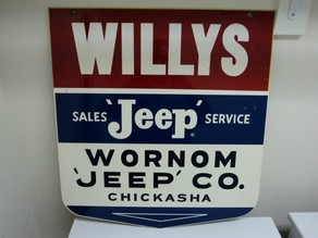 vintage willys/jeep sign