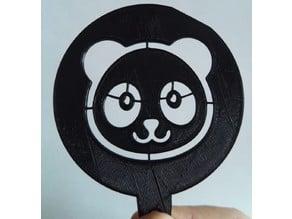 Panda Coffee Stencil (Lasercut/3DPrint)