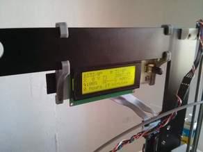 Smart LCD holder for Prusa i3 6mm aluminium frame