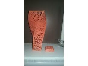 Large Voronoi Spiral Centerpiece Vase with base