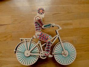 Wood Lasercut GrannyMan Puppet