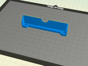 Simplified bracket for Active Cooling Fan Duct - FlashForge (Slightly Angled)