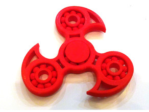 Fidget Tri Spinner remix with printed bearing