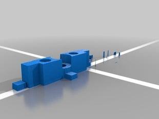 xbar and xbar nut mount and bowman design extruder holder.