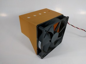 120 mm computer fan to 60 x 120 mm manifold