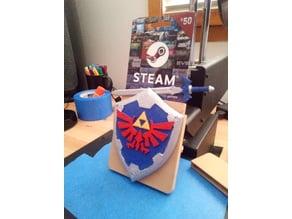 Steam Gift Card Holder w/ Zelda Shield & Sword