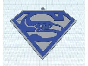 Super Seahawks Ornament