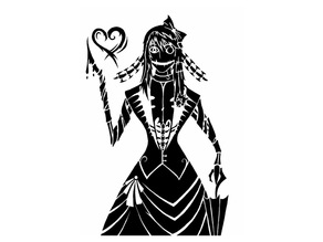 Zombie Girl stencil