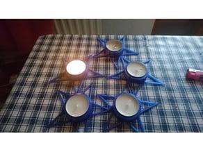 Tealightholder 5 fold star