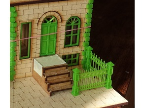 28mm building details: Wrought iron fence