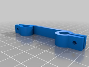 Prusa i3 Rework - X-axis 8MM rod spacing clamp