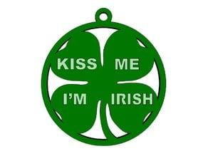 Kiss Me I'm Irish Pendant