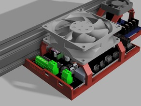 AM8/2020/2040 MKS Gen 1.4 Airflow-Optimized Open Body Case and MOSFET Mount W/40mm/60mm/80mm Fans