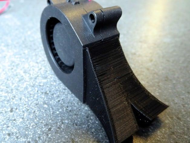 fan nozzle. rigidbot dual v6 mk8 alloy mount part-fan nozzle by virtualight - thingiverse fan a