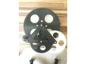 Gear driven object plate for 3D scanner