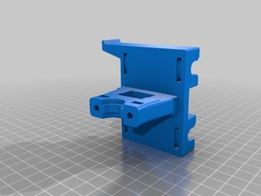 E3Dv6 Bowden X-carriage mod for CTC Prusa i3 Clone
