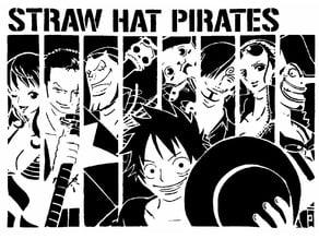 Straw Hat Pirates stencil