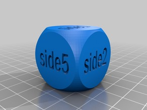 Customizable Text Dice