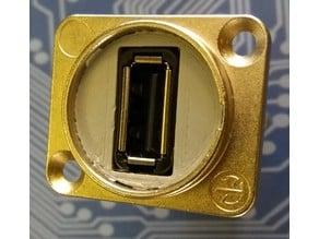 Reinforcement for Neutrik USB panel mount