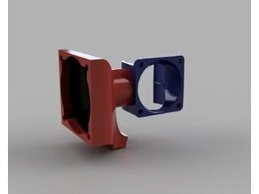 E3D v6 single 40mm cooling fan mount