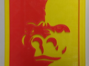 Pittsburg State Gorilla on Thin Large Plate