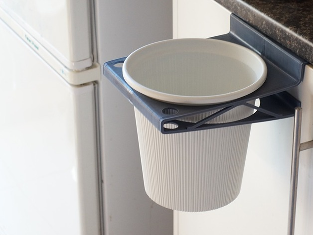 Waste Bin Holder For Kitchen Door By Meshed