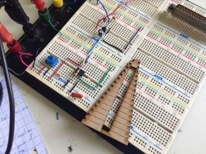 Lasercut resistor breadboard folder 2.0
