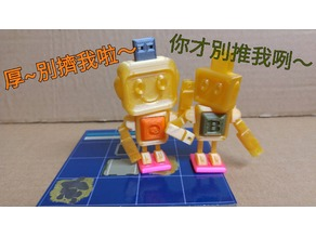 Robot City Board Game Characters