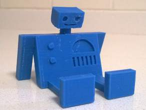 Resting Robot Cellphone Stand