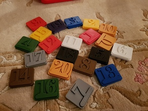 Numbers puzzle toy