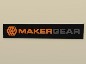 MakerGear Long Logo Multi-material