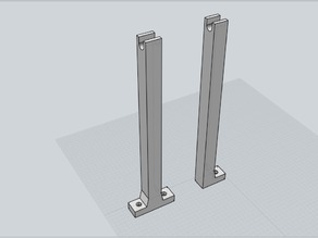 Filament spool holders for Mendelmax 2 or any T-slot printer.
