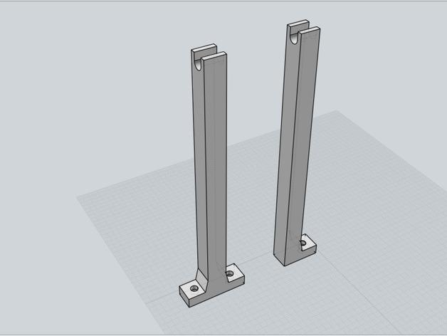 Filament spool holders for Mendelmax 2 or any T-slot printer.