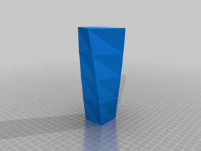 Square-Topped Spiral Vase