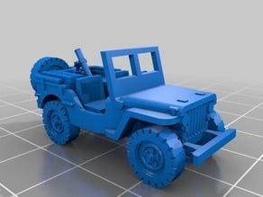 Mortar Jeep [1:100 Scale]