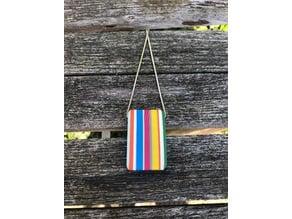 Candy stripe pendant