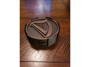 Guinness Coasters and Caddy