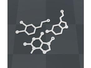 molecule necklace pendants