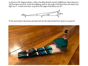 Boat and Lighthouse (Trig Problem)