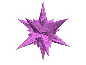 A Stellated Icosahedral Snowflake