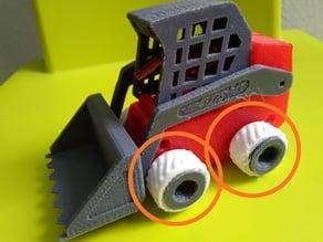 Flexible tires for Mini Track Loader / Neumáticos flexibles para mini pala